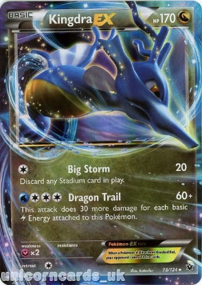 Picture of Kingdra EX 73/124 JUMBO OVERSIZED Ultra Rare Holo Mint Pokemon Card