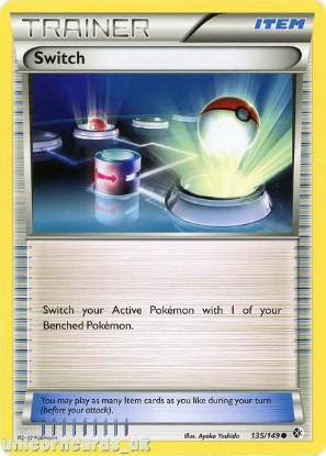 Picture of Switch 135/149 LBD Uncommon Mint Pokemon Card