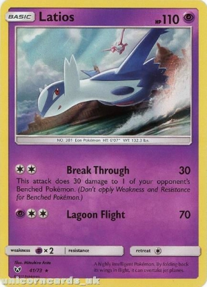Picture of 41/73 Latios Rare Holo Mint Pokemon Card [Shining Legends]