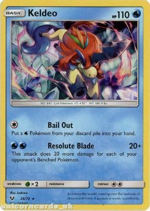 Picture of 26/73 Keldeo Rare Holo Mint Pokemon Card [Shining Legends]