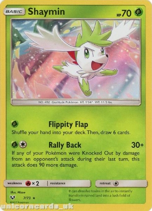 Picture of 7/73 Shaymin Rare Holo Mint Pokemon Card [Shining Legends]