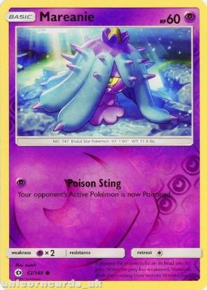 Picture of Mareanie 62/149 Sun & Moon Reverse Holo Mint Pokemon Card