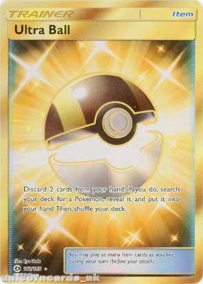 Picture of Ultra Ball 161/149 Sun & Moon Rare Secret Mint Pokemon Card