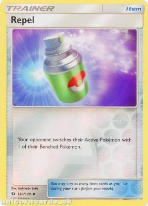 Picture of Repel 130/149 Sun & Moon Reverse Holo Mint Pokemon Card