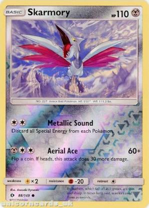 Picture of Skarmory 88/149 Sun & Moon Reverse Holo Mint Pokemon Card