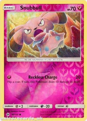 Picture of Snubbull 90/149 Sun & Moon Reverse Holo Mint Pokemon Card