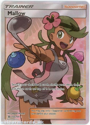 Picture of Mallow 145/145 Guardians Rising  Rare Ultra Mint Pokemon Card