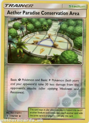 Picture of Aether Paradise Conservation Area 116/145 Guardians Rising  Reverse Holo Mint Pokemon Card