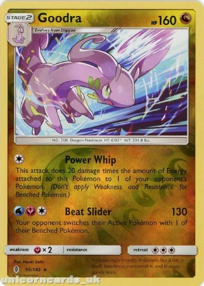 Picture of Goodra 96/145 Guardians Rising  Reverse Holo Mint Pokemon Card