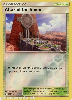 Picture of Altar of the Sunne 118/145 Guardians Rising  Reverse Holo Mint Pokemon Card