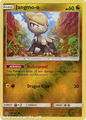 Picture of Jangmo-o 98/145 Guardians Rising  Reverse Holo Mint Pokemon Card