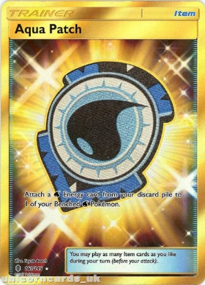 Picture of Aqua Patch 161/145 Guardians Rising  Rare Secret Mint Pokemon Card