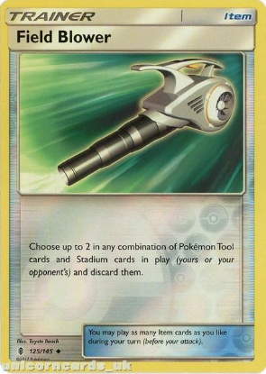 Picture of Field Blower 125/145 Guardians Rising  Reverse Holo Mint Pokemon Card