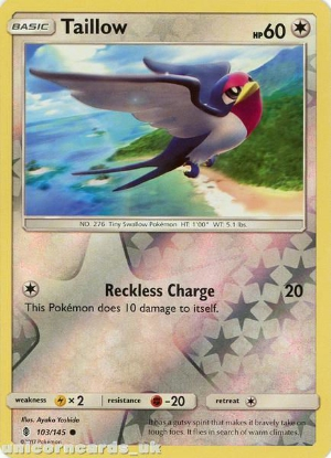 Picture of Taillow 103/145 Guardians Rising  Reverse Holo Mint Pokemon Card