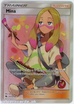Picture of Mina 211/214 Rare Ultra :: Lost Thunder :: Mint Pokemon Card