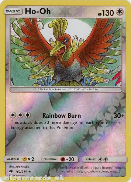 Pokemon HO-OH 160//214 RARE MINT Lost Thunder