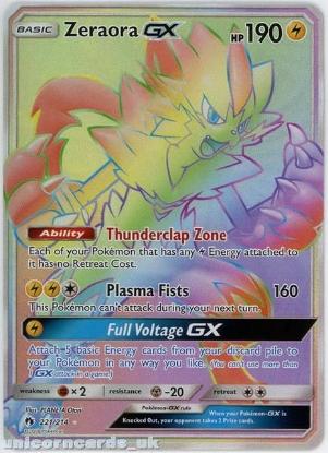Picture of Zeraora GX 221/214 Rare Secret :: Lost Thunder :: Mint Pokemon Card