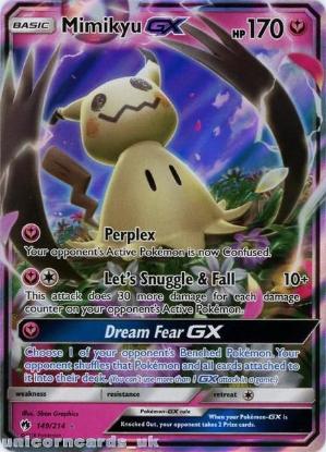 Picture of Mimikyu GX 149/214 Ultra-Rare Rare :: Lost Thunder :: Mint Pokemon Card