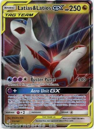 Picture of Latias & Latios Tag Team GX 113/181 Ultra-Rare Rare :: Team Up :: Mint Pokemon Card