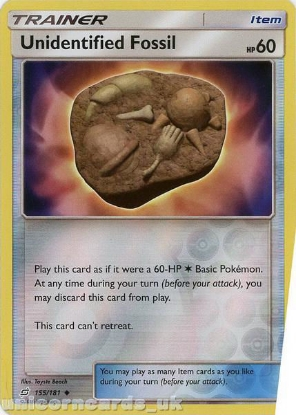 Picture of Unidentified Fossil 155/181 Reverse Holo :: Team Up :: Mint Pokemon Card