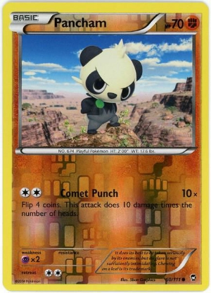 Picture of Furious Fists 60/111 Pancham Reverse Holo Pokemon Card