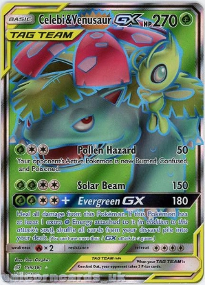 Picture of Celebi & Venusaur Tag Team GX 159/181 Rare Ultra :: Team Up :: Mint Pokemon Card