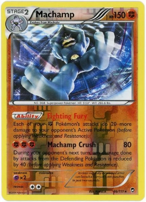 Picture of Furious Fists 46/111 Machamp Reverse Holo Pokemon Card