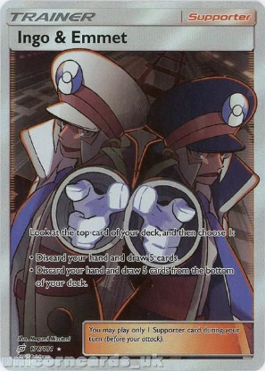 Picture of Ingo & Emmet 176/181 Rare Ultra :: Team Up :: Mint Pokemon Card