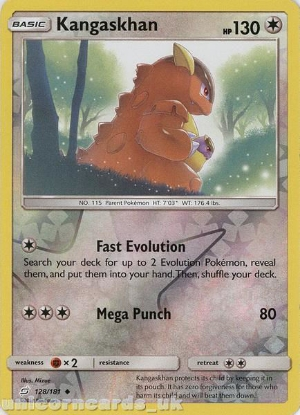 Picture of Kangaskhan 128/181 Reverse Holo :: Team Up :: Mint Pokemon Card