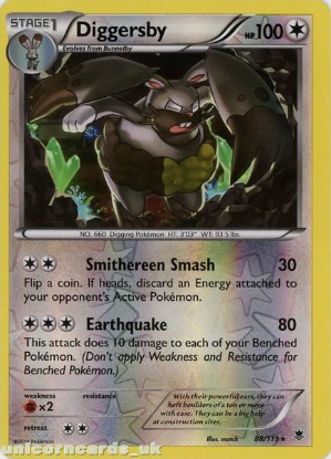 Picture of Diggersby 88/119 Phantom Forces Reverse Holo Mint Pokemon Card