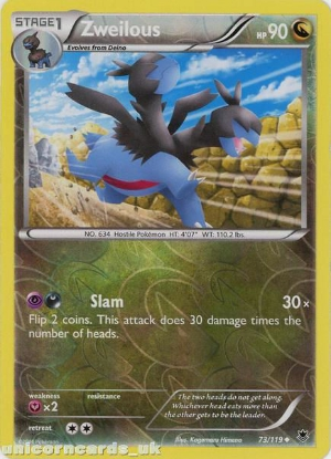 Picture of Zweilous 73/119 Phantom Forces Reverse Holo Mint Pokemon Card
