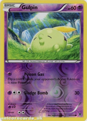 Picture of Gulpin 37/119 Phantom Forces Reverse Holo Mint Pokemon Card