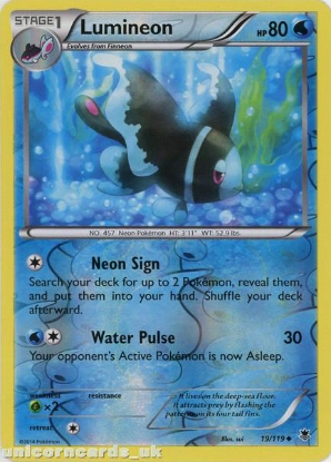 Picture of Lumineon 19/119 Phantom Forces Reverse Holo Mint Pokemon Card