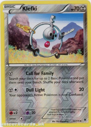 Picture of Klefki 66/119 Phantom Forces Reverse Holo Mint Pokemon Card