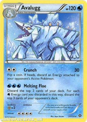 Picture of Avalugg 37/114 :: Steam Siege ::  Rare Mint Pokemon Card