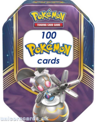 Picture of Pokemon Collector Tin II With 100 Mint And Original Pokemon Cards + Play Coin
