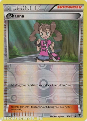 Picture of Shauna 104/119 Phantom Forces Reverse Holo Mint Pokemon Card