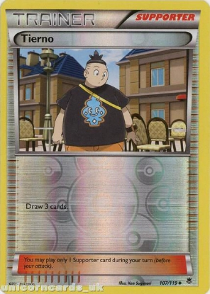 Picture of Tierno 107/119 Phantom Forces Reverse Holo Mint Pokemon Card