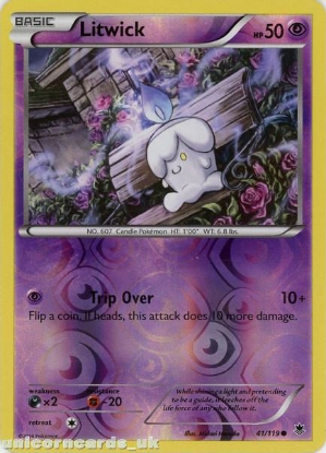 Picture of Litwick 41/119 Phantom Forces Reverse Holo Mint Pokemon Card