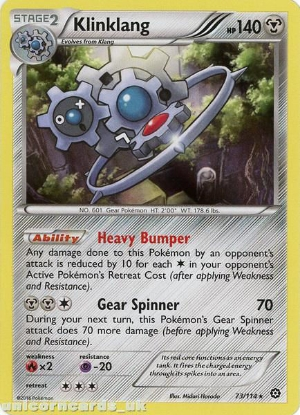 Picture of Klinklang 73/114 :: Steam Siege ::  Rare Holo Mint Pokemon Card