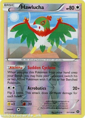 Picture of Hawlucha 97/114 :: Steam Siege ::  Reverse Holo Mint Pokemon Card