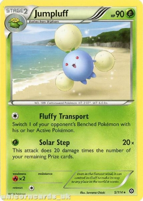 Picture of Jumpluff 5/114 :: Steam Siege ::  Rare Mint Pokemon Card