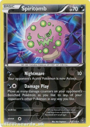 Picture of Spiritomb 62/114 :: Steam Siege ::  Reverse Holo Mint Pokemon Card