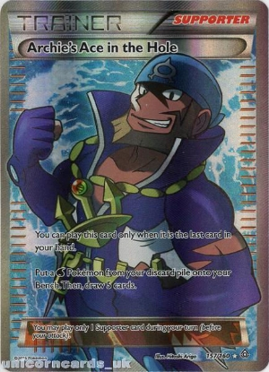 Picture of Archie's Ace in the Hole 157/160 Primal Clash Rare Ultra Mint Pokemon Card