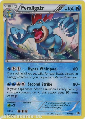 Picture of Feraligatr 17/119 Phantom Forces Rare Holo Mint Pokemon Card