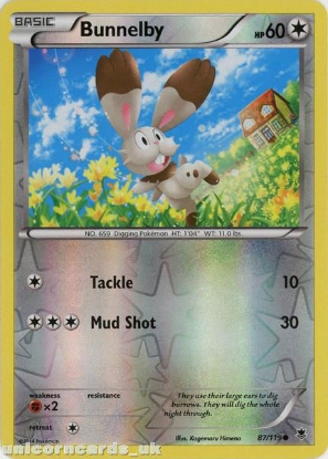 Picture of Bunnelby 87/119 Phantom Forces Reverse Holo Mint Pokemon Card
