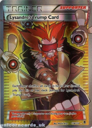 Picture of Lysandre's Trump Card 118/119 Phantom Forces Rare Ultra Mint Pokemon Card