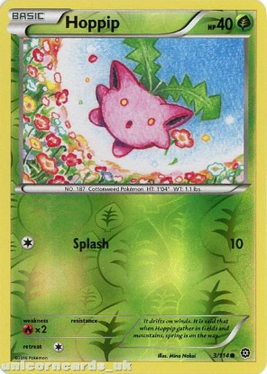 Picture of Hoppip 3/114 :: Steam Siege ::  Reverse Holo Mint Pokemon Card