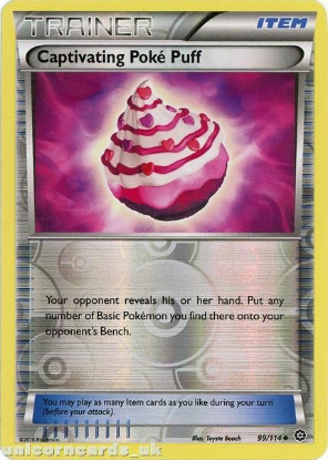 Picture of Captivating Poke Puff 99/114 :: Steam Siege ::  Reverse Holo Mint Pokemon Card