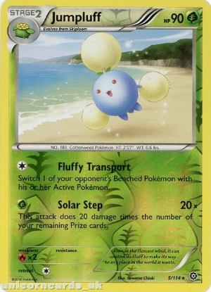 Picture of Jumpluff 5/114 :: Steam Siege ::  Reverse Holo Mint Pokemon Card